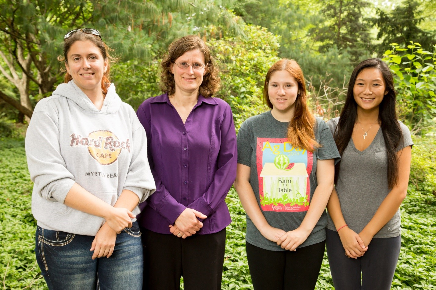 Left to right: Amanda Barnard, Tanya Gressley, Kayla Neidefer, and Annie Choi