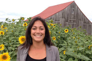 Becca Manning, a graduate of UD's College of Agriculture and Natural Resources, has taken interests developed in Chile to become farm manager at the Historic Penn Farm in New Castle.