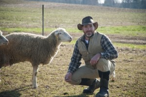larry armstrong at webb farm with the happy sheep at canr university of delaware
