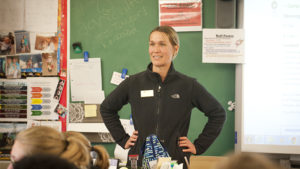 Carrie Murphy speaks to students at William Penn High School.