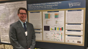 Justin Berg presented results from the Equine Microbiome Project
