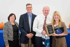 Sara-Beth Bittinger receives distinguished young alumni award