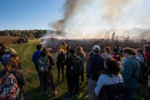 UD students learn from UD alums, current DNREC employees about prescribed burning for wildlife management